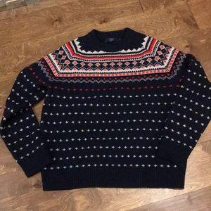 J Crew Men's XL Navy Wool Sweater